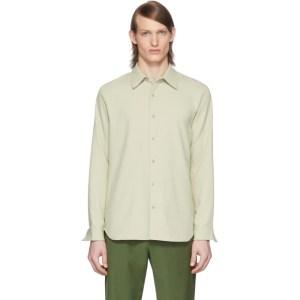 Tibi SSENSE Exclusive Green Chalky Drape Shirt