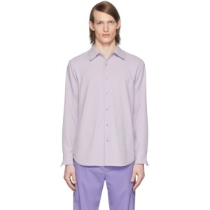 Tibi SSENSE Exclusive Purple Chalky Drape Shirt