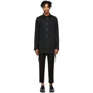 BED J.W. FORD Black Ribbon Shirt