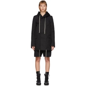 Rick Owens Drkshdw Black Short Fishtail Parka