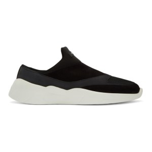 Essentials Black Laceless Backless Sneakers