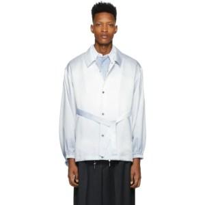 Fumito Ganryu Blue and White Kimono Coach Jacket