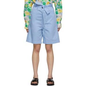 Plan C Blue Belted Shorts