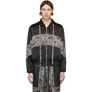 Nahmias Black and White Silk Courtside Jacket