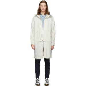 Solid Homme White Layered Coat