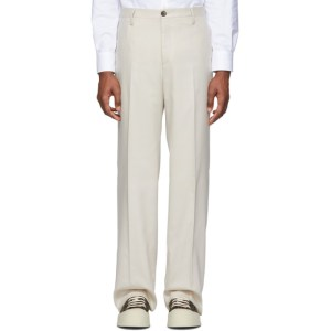 Eidos Beige Piquet Trousers