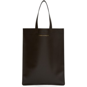 Comme des Garcons Wallets Brown Leather Classic Tote