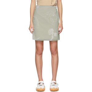 Serapis Grey Falafel Wrap Skirt