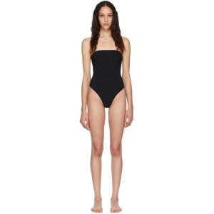Lido Black Sedici Bandeau One-Piece Swimsuit