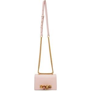 Alexander McQueen Pink Jewelled Mini Satchel