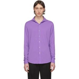 Ralph Lauren Purple Label Purple Pique Long Sleeve Polo
