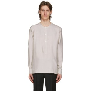 Ermenegildo Zegna Grey Band Collar Shirt