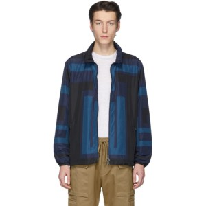 Etro Black and Blue Neutra Sportswear Jacket