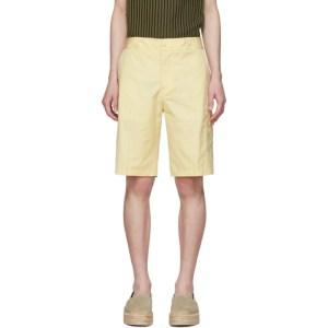 Salvatore Ferragamo Yellow Cargo Shorts