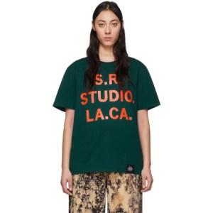 S.R. STUDIO. LA. CA. Green and Orange Vampire Sunrise T-Shirt
