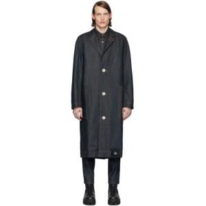 S.R. STUDIO. LA. CA. Indigo Denim Long Trench Coat