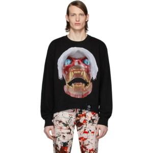 S.R. STUDIO. LA. CA. Black ED. 50 White Haired Red Skull Sweatshirt