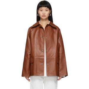 KASSL Editions Reversible Brown Leather Jacket