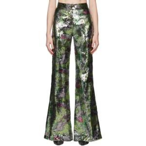Halpern Multicolor Sequin Stovepipe Trousers
