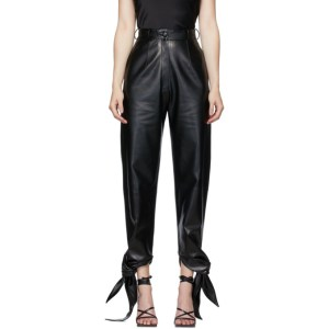 Materiel Tbilisi Black Tie-Bottom Trousers