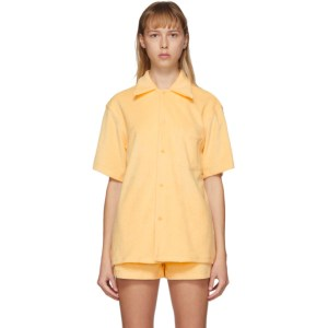 Gil Rodriguez SSENSE Exclusive Yellow Terry Bowling Shirt
