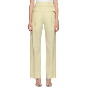 Christopher Esber Yellow Wool Double Belted Trousers