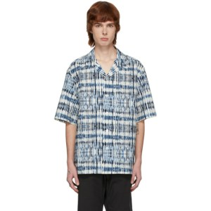 Barena Blue and White Printed Shirt