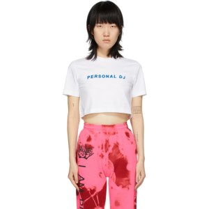 Kirin White Cropped Personal DJ T-Shirt