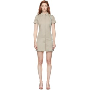 Coperni Khaki Tailored Fitted Mini Dress
