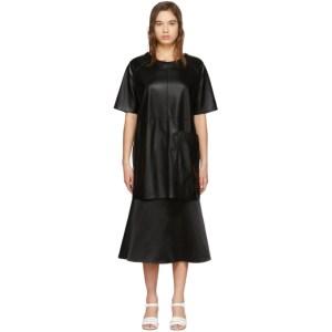 Aeron Black Faux-Leather Zelda Dress
