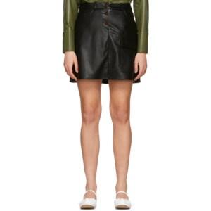 Aeron SSENSE Exclusive Black Faux-Leather Thelma Skirt