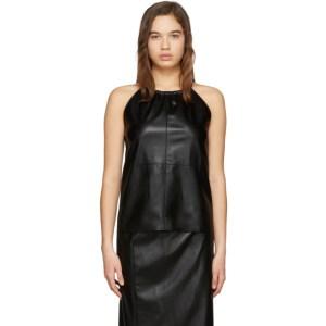 Aeron SSENSE Exclusive Black Faux-Leather Alicia Tank Top