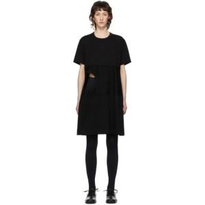 Comme des Garcons Homme Plus Black Cut-Out Hole T-Shirt Dress
