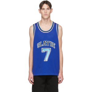 Neil Barrett Blue Slayde Tank Top