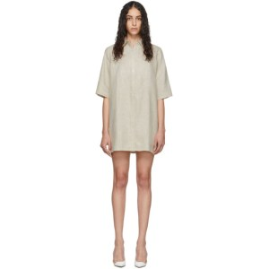 Georgia Alice Off-White Linen Pierre Shirt Dress