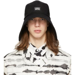Burberry Black Cotton Bonnet Hat