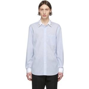 Burberry Blue Striped Formal Shirt