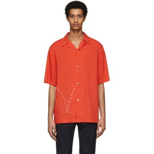 Paul Smith and Christoph Niemann Red Bouncing Coconut Print Short Sleeve Shirt