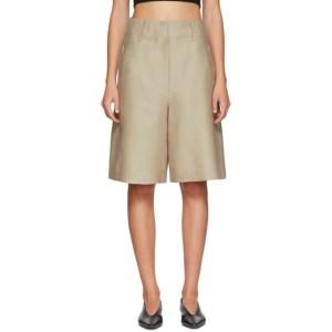 LVIR Beige Silk Shorts