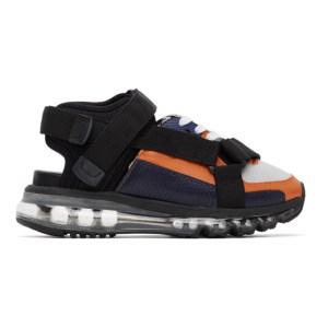 Miharayasuhiro Orange and Black Half and Half Sandals