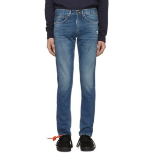 Off-White Blue Diag Slim Jeans
