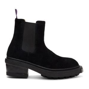 Eytys Black Suede Nikita Chelsea Boots
