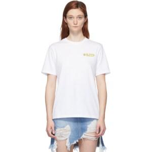 SJYP White Flame Logo T-Shirt