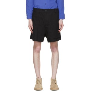 Toogood Black The Bricklayer Shorts