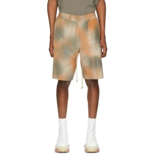 Song for the Mute Orange and Grey Elasticated Shorts