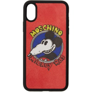 Moschino Red Chinese New Year Mickey Rat iPhone XS/X Case
