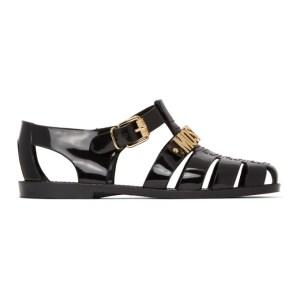 Moschino Black Logo Jelly Sandals