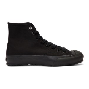 Ys Black High Cut Lace-Up Sneakers