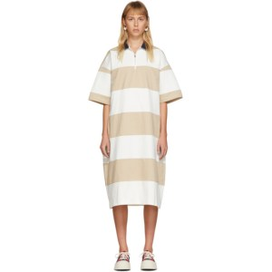 Sunnei White and Beige Polo Dress