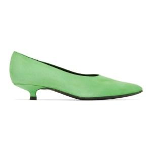 Dorateymur Green Suede Cigarette Closed Heels